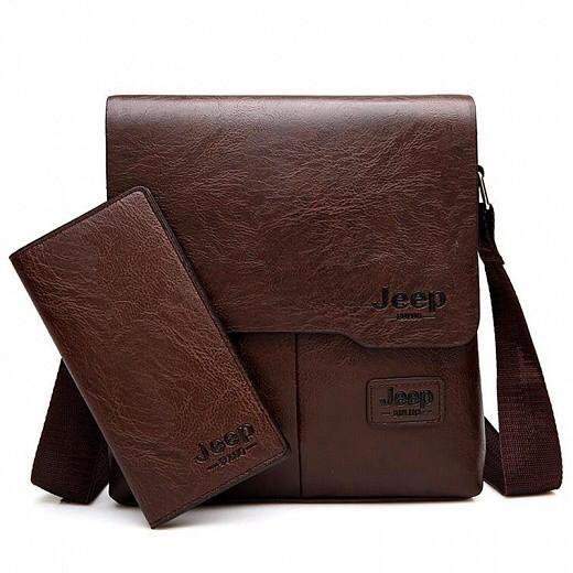 Набор сумка и портмоне Jeep Buluo, Цвет: Коричневый