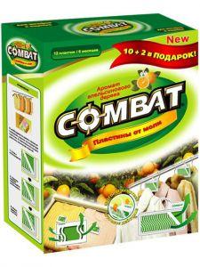Инсектицид от моли (пластины) 10+2 Комбат Green