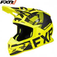 Шлем FXR Boost Evo, с подогревом - Black/Hi-Vis