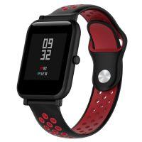 Сменный ремешок для Умных часов  Amazfit Bip Smartwatch (Черный - Красный)