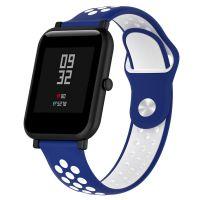 Сменный ремешок для Умных часов  Amazfit Bip Smartwatch (Синий - Белый)