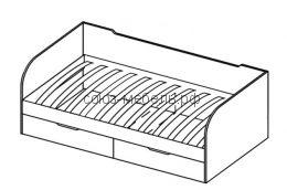 Кровать с ящиками схема