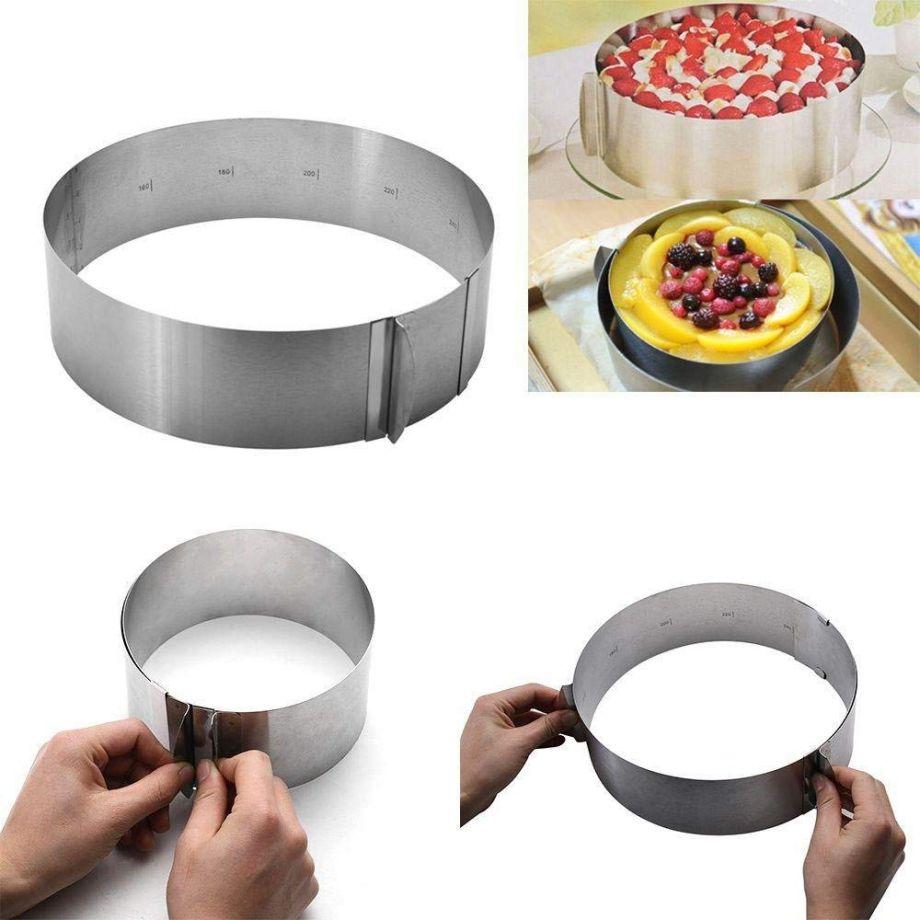 Раздвижная форма для выпечки Cake Ring, 16-30 см