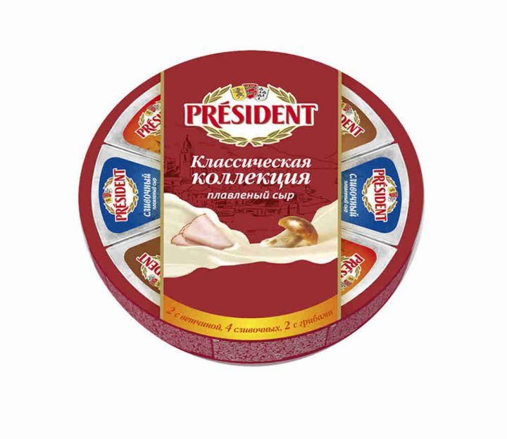 Сыр Президент Клас коллекция порц 45% 140г Президент