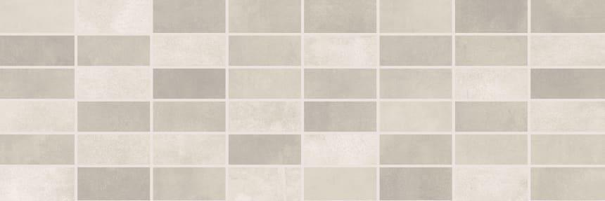 1064-0102 Настенная плитка панно мозаика Фиори Гриджо 20х60 светло-серая