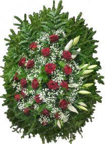 Траурный венок из живых цветов #18
