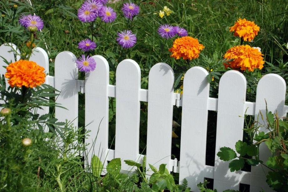 Забор декоративный №7 Штакетник, 7 секций, Цвет Белый