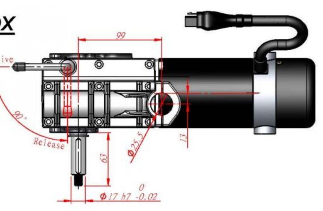 Мотор-редуктор CTSR-200w  X-power-5 - R
