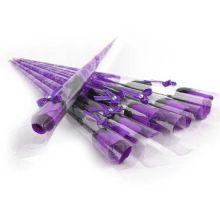Роза из парфюмированного мыла I Love You, 40 см, Фиолетовый