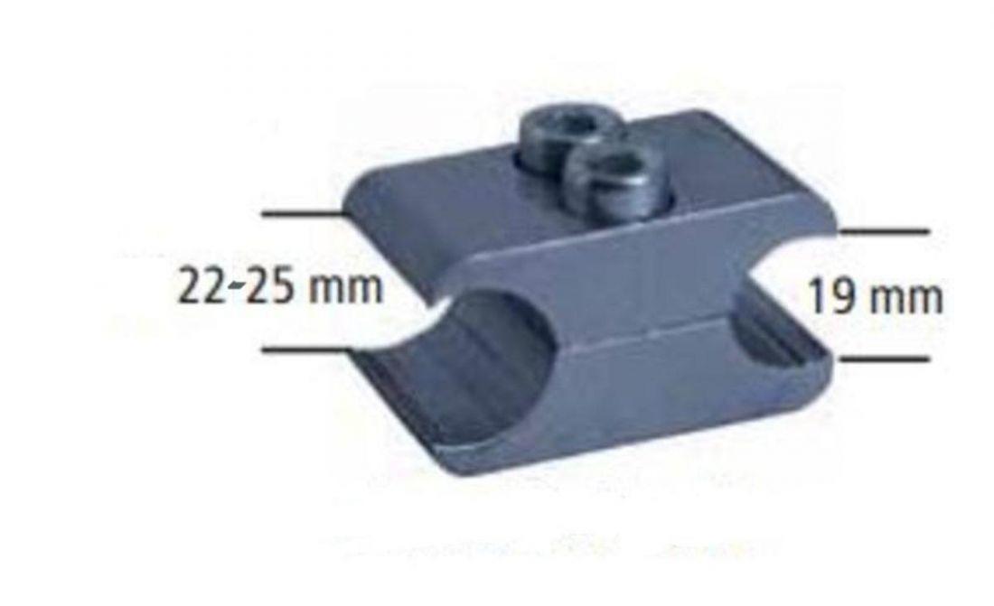 Блок монтажный для крепления тормоза, 25мм, алюминий