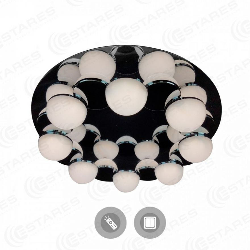 Светильник светодиодный Estares MOLECULA 120W R-550-CHROME/WHITE-220-IP40