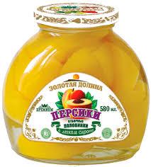 Персики половинки компот Золотая Долина ст/б 580гр