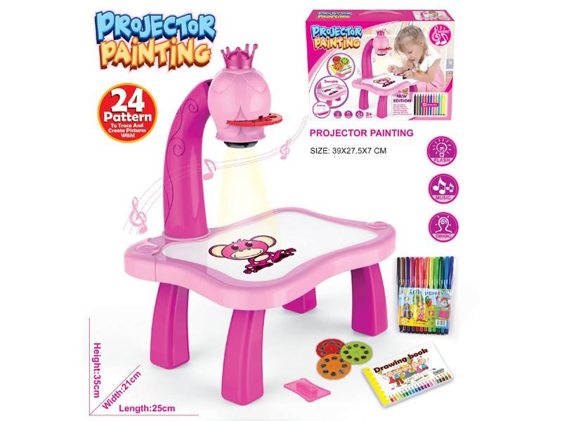 Детский Проектор Для Рисования Со Столиком для девочек Projector Painting