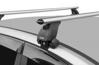 Багажник на крышу Renault Kaptur, Lux, аэродинамические дуги (53 мм)