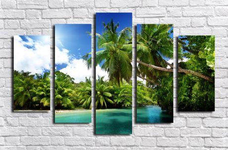 Модульная картина Райский остров