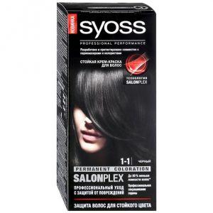 Краска д/волос SYOSS COLOR 1-1 Черный 115 мл