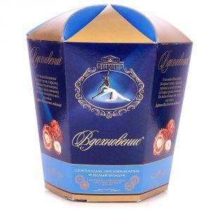 Конфеты в коробке. Вдохновение. С шоколадно-ореховым кремом и целым фундуком 150 г.