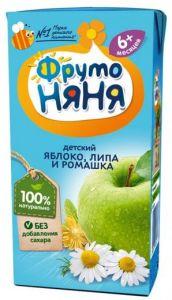 Напиток Фрутоняня 0,2 л неосветленный яблоко с экстрактом ромашки и липы т/п