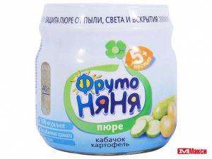 Пюре Фрутоняня кабачок-картофель ст/б 0,080 кг