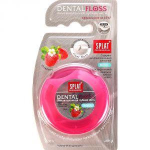 Зубная нить SPLAT Professional DentalFloss объемная клубника 30м