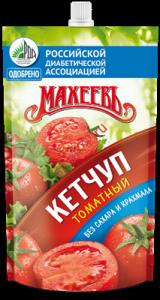 Кетчуп Махеев Томатный без сахара и крахмала д/п 300г