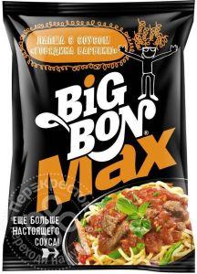 "Лапша MAX с соусом говядина барбекю ""BIG BON"" 95 г (пачка)"