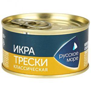 Икра Деликатесная трески классич 130 гр (Русское море)