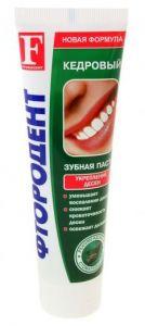 Зубная паста Фтородент 125 гр Кедровый б/фут