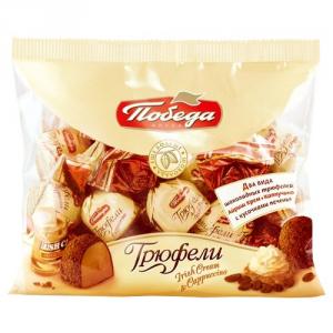 Конфеты Трюфели каппучино с кусочками печенья