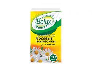 Платочки носовые 3 сл. Belux plus Ромашка (10 шт/зап) (24 шт/кор)