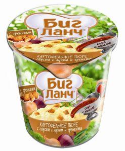 Картоф. пюре с луком и гренками (стакан) 50 г /24 БИГ ЛАНЧ