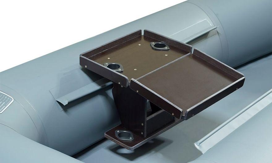 Столик раскладной для эхолота+АКБ и 2-я удочкодержателями № 5 Патриот