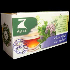 Напиток чайный цветочно-травяной 7 трав для покоя 30г*20п*12 67766