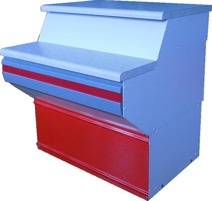 Неохлаждаемый прилавок Иней 4МП (с ящиком со замком)
