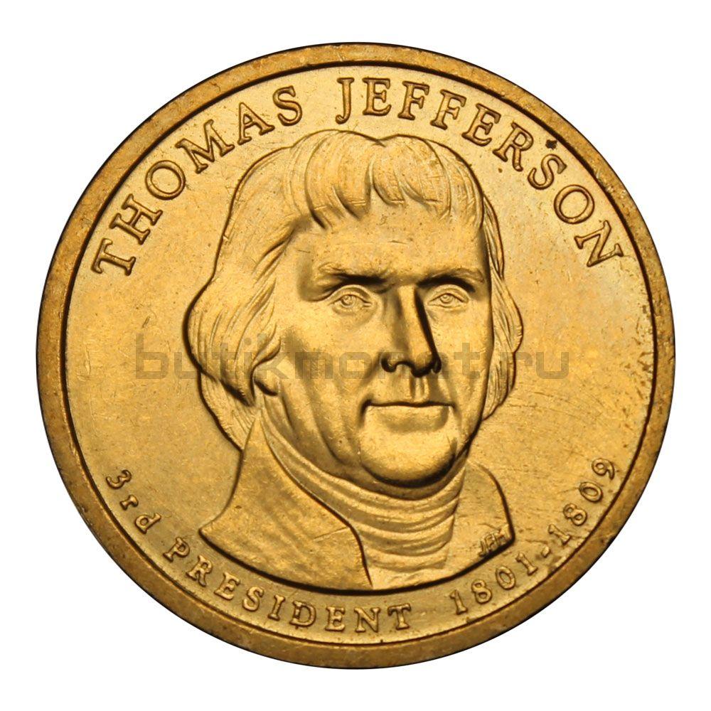 1 доллар 2007 США Томас Джеферсон (Президенты США)