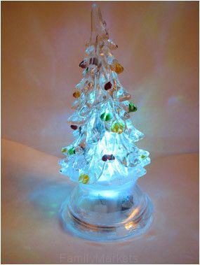 Светящаяся светодиодная ёлочка с шишками Marry Christmas 12 см.