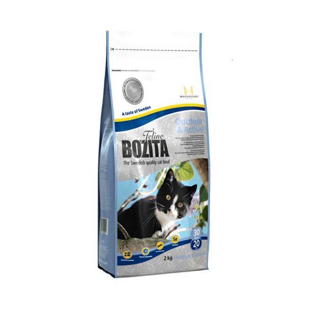 Корм сухой Bozita Outdoor & Active беззерновой для растущих и взрослых активных кошек  с лосем 2кг