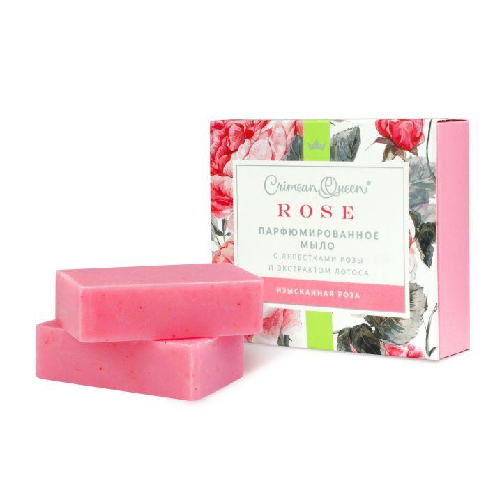 """Парфюмированное мыло """"Изысканная роза"""", 200 гр."""