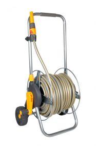 Тележка HoZelock 2436 Pro металлическая со шлангом 1/2 30 м, коннекторами и наконечником для шланга поставка В СОБРАННОМ ВИДЕ