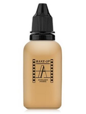 Make-Up Atelier Paris HD Fluid Foundation Gilded AIR3Y Yellow medium Тон-флюид водостойкий для аэрографа 3Y натуральный золотистый