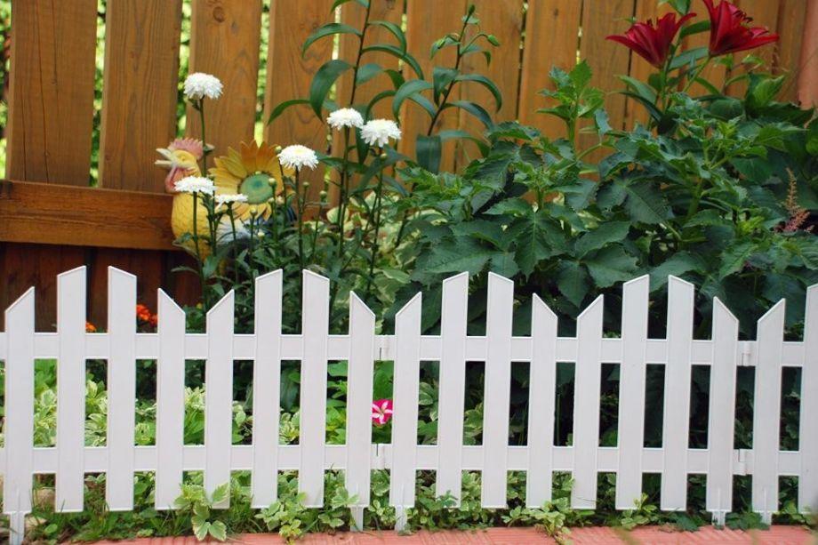 Забор декоративный №4, 7 секций, цвет Белый