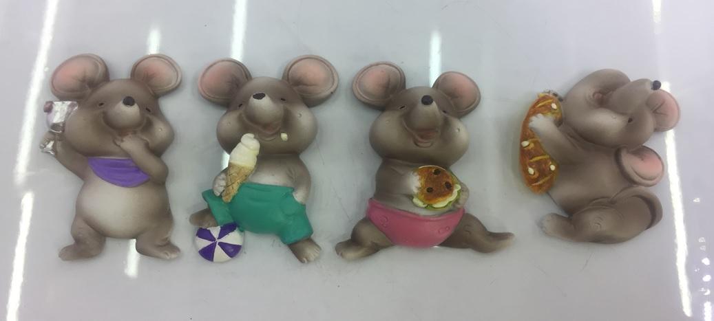 Магнит-крыса на отдыхе, символ года, 6 см, в ассортименте