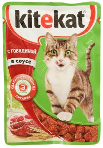 Корм для кошек KITIKАT Пауч говядина в соусе 85г