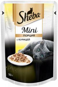 Корм для кошек SHEBA мини порция с курицей 50гр