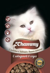 Корм для кошек CHAMMY Пауч говядина в соусе 85г