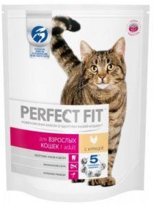 Корм для кошек PERFECT FIT домашней кошки с курицей 190г