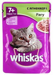 Корм для кошек WHISKAS 7 рагу с ягнком 85г