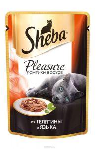 Корм для кошек SHEBA Плежер телятина/язык 85г