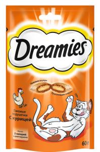 Корм для кошек DREAMIES с курицей 30г