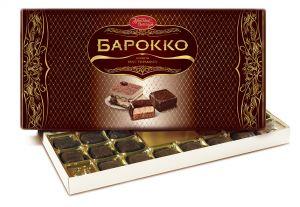 Набор конфет БАРОККО Вкус тирамису Красный Октябрь 300г
